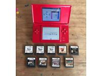 Nintendo DS Lite with 9 games