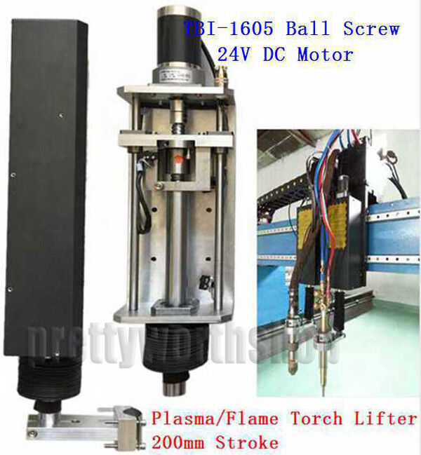 Z-axis Flame/Plasma Torch Lifter Clamp 200mm CNC Cutting Machine 1605 Ball Screw