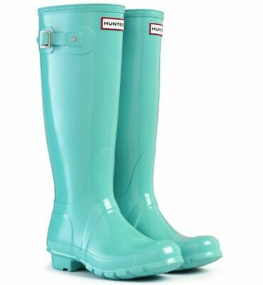 HUNTER Original Tall Wellington Boots Waterproof Mint/Tiffany Blue Matt UK6