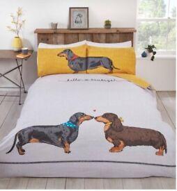 Hello Sausage Duvet Cover and Pillowcase Set