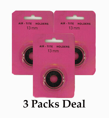 3 AirTite BLACK Ring Capsules Small Coins 13mm For $1 Gold Type 1 Clear Storage  13mm Black Coin