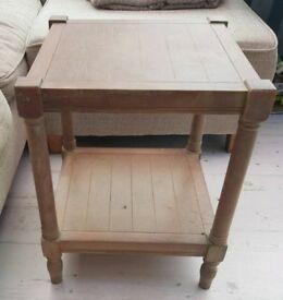 2 x Shabby Chic faded wood style side tables