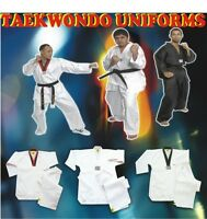 TAEKWONDO UNIFORM, MEDIUM WEIGHT, 81/2 OZ, 100% QUALITY GUARANTE