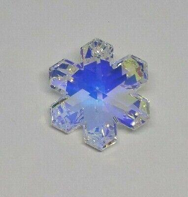 20mm Swarovski Crystal Clear AB Snowflake 6704 Pendant/ Suncatcher/ Ornament