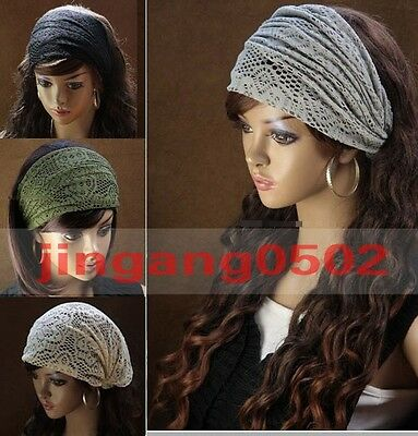 NEW Style Women Bandanas Lace Head wrap girls chic turban Hair Band Headband