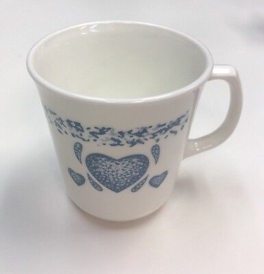 Corning/Corelle Blue Hearts Coffee Mug/Cup