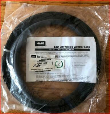 Hme Saw Cut 18 Awg Drive Thru Vehicle Detector Loop Wire 333g012 Rev A 100ft