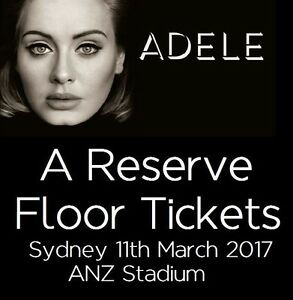 2 x ADELE A-RESERVE FLOOR SYDNEY TICKETS SAT 11/3 (SOLD OUT) Gordon Ku-ring-gai Area Preview