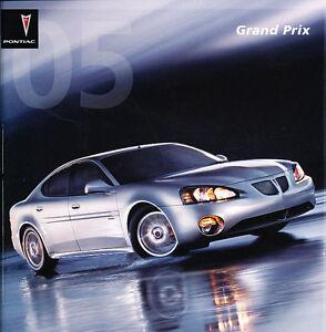 2005 pontiac grand prix 24 page original sales brochure gt and gtp. Black Bedroom Furniture Sets. Home Design Ideas
