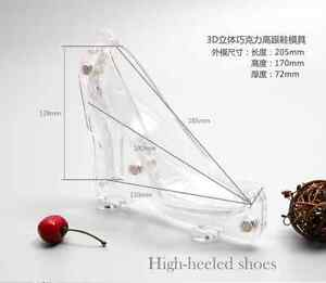 3D High Heel Shoe Chocolate Candy Cake Decorating PC Mould Jelly Ice Soap Mold 2