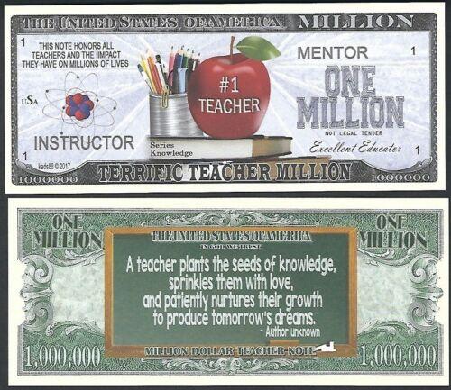 Lot of 500 BILLS - Terrific Teacher Mentor Million Dollar Note