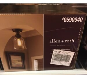 Two Allen and Roth light fixtures