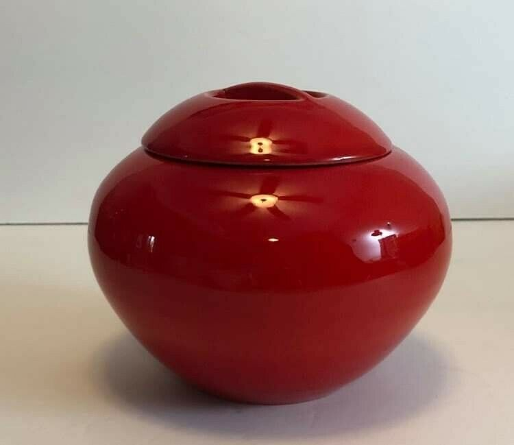 SUPER RARE Catalina Pottery Red Jar With Lid