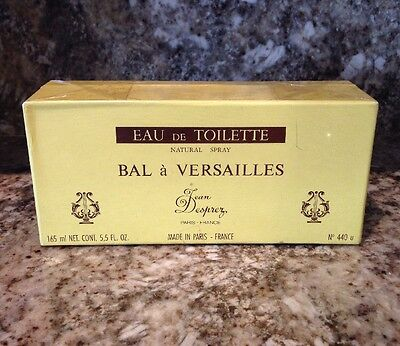 Bal A' Versailles Jean Deprez Eau De Toilette Natural Spray Paris 5.5 OZ NIB