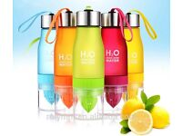 650ML Lemon Cup Water Bottle H2O Drink More Water Drinking Bike Bottle Many Colours Available