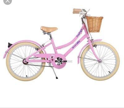 Emmelle 20 inch Girls Heritage Snapdragon Bike Pink/Biscuit Classic Retro Design