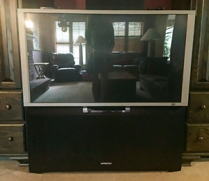 """Hitachi 51"""" rear projection tv with built in DVD player"""