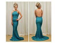 Green formal dress size 8