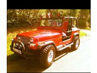 Jeep Wrangler red Yj