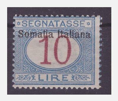 SOMALIA  - 1909  SEGNATASSE   LIRE 10    NUOVO  **