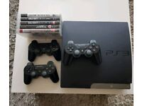 PS3 Slim 500GB with 3 Controllers and 5 Games inc South Park SoT and Tomb Raider Collection