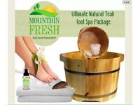Wooden Foot Spa