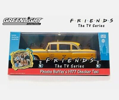 "Scale model car 1:43 CHECKER TAXI CAB 1977 ""Friends Phoebe Buffay's"""