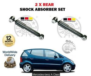FOR MERCEDES A140 A160 A190 A210 A170 CDI 1997-2004 NEW 2 X REAR SHOCK ABSORBER