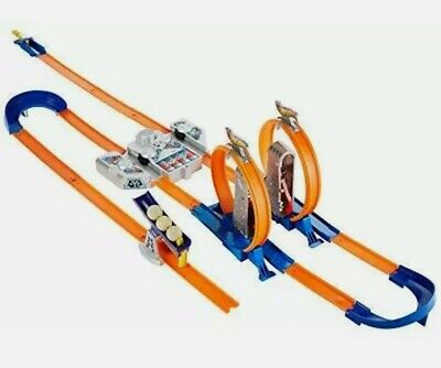 Hot Wheels Track Builder Total Turbo Takeover Track Set Exclusive Speedway USA