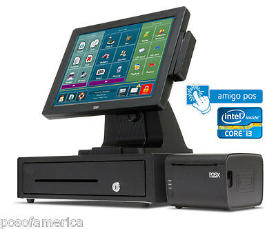 AMIGO POS RESTAURANT BAR PIZZA RETAIL All-in-One i3 POS SYSTEM ONE STATION  NEW