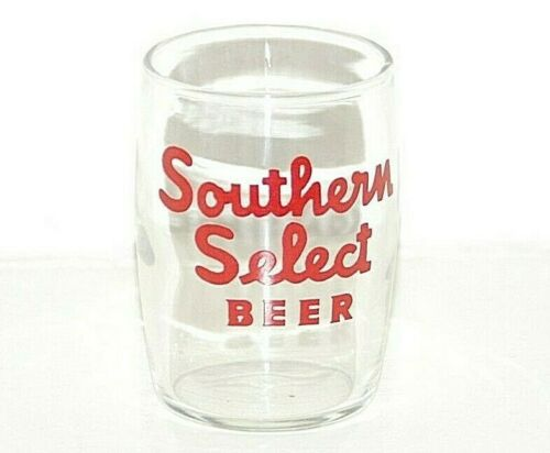 VINTAGE SOUTHERN SELECT BEER BARREL GLASS, GALVESTON, TEXAS