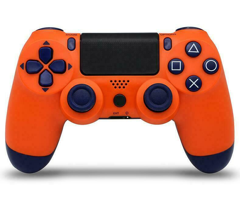 Wireless Bluetooth Game Controller Pad For  PS4 PlayStation 4 orange