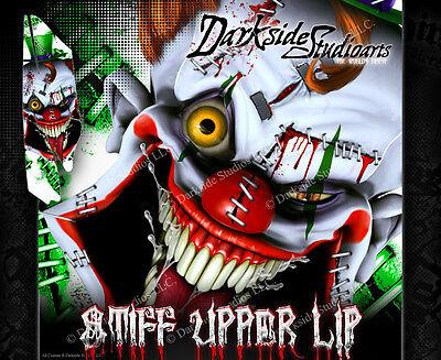 YAMAHA RAPTOR 350 (ALL YEARS) WRAP DECAL GRAPHIC SET KIT 'STIFF UPPER LIP'