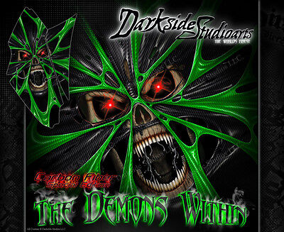 """KAWASAKI KFX450R GRAPHICS WRAP DECAL KIT """"THE DEMONS WITHIN"""" FITS OEM PARTS"""