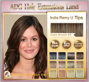 100% HUMAN INDIA REMY EASY MICRO LOOP  HAIR EXTENSIONS 18