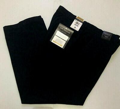 HAGGAR Luxury Comfort Pants Classic Fit 4 Way Stretch Flex Waist Black $75 NWT - Haggar Comfort Fit