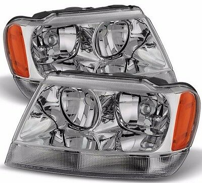 TIFFIN PHAETON 2005 2006 2007 CHROME HEADLIGHTS HEAD LIGHTS LAMPS RV - SET
