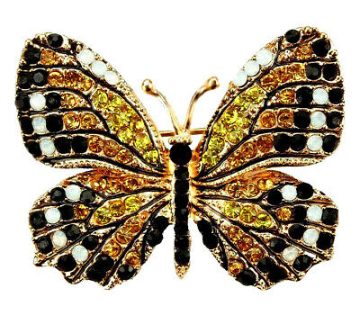 High Style MONARCH BUTTERFLY Retro Vintage Inspired Style RHINESTONE (Butterfly Inspired Fashion)