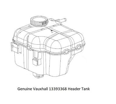 Genuine Vauxhall Astra J Cascada Radiator Coolant Expansion Header Tank 13393368
