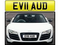 EVIL AUDI private number plate cherished personalised car reg - EV11 AUD