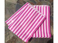 Rustic/ vintage wedding pink candy stripe sweet bags x65