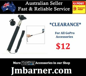 For Gopro - Monopod Selfie Stick Extendable - Hero 4 3 3+ 2 NEW West Perth Perth City Preview
