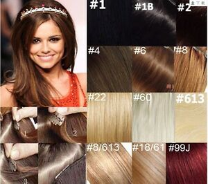 15-28-Remy-Human-Hair-clips-in-Extensions-Fashion-colors-75g-105g-140g-20Clips