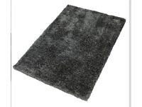 Designer Dark Grey Handmade Rug - 160 X 230 - Very Good Condition -Made In India