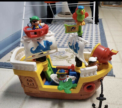 Fisher Price Little People Pirate Ship Playset with Figures and Accessories