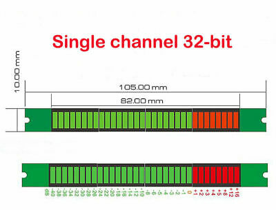32-bit Level Indicator Panel Vu Meter Mono Channel Led Assembled Board