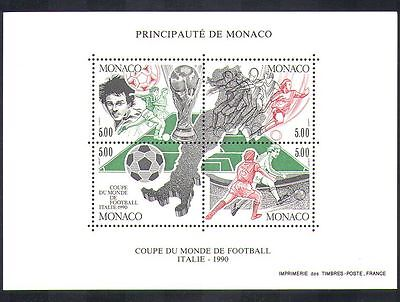 Monaco 1990 Football/World Cup/Italy/WC/Sport/Games/Soccer 4v m/s (n36663)