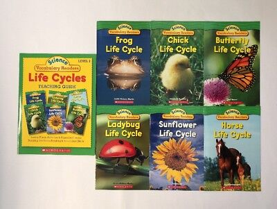 Childrens Science Books Life Cycles Lot 6 and Teaching Guide