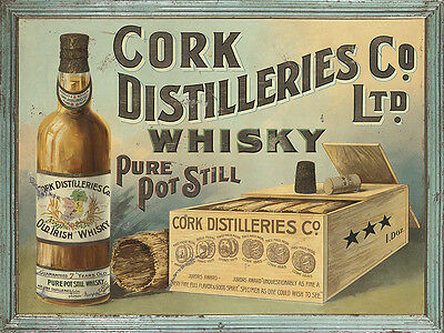 CORK DISTILLERIES COMPANY - WHISKEY ADVERTISING METAL SIGN