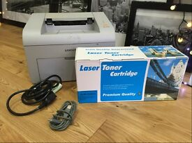 Samsung ML - 2570 MONO Laser Printer – with partly used & brand new boxed cartridge (and cables)